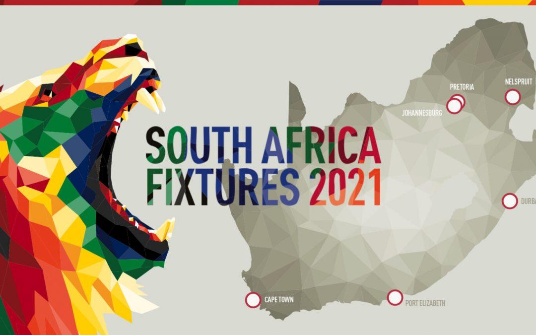 British & Irish Lions 2021 tour fixture dates in South Africa announced